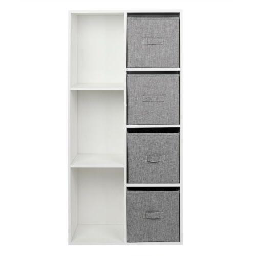 5/7 Cubby Multifunction Bookcase Storage Organizer Drawers