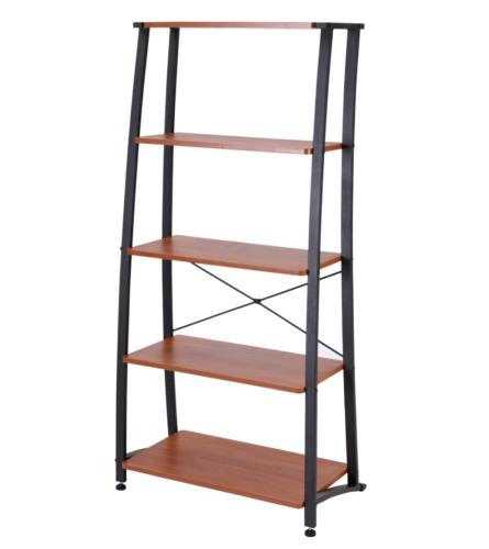 FIVEGIVEN 5 Shelf Ladder Bookshelf Tall Industrial Bookcases