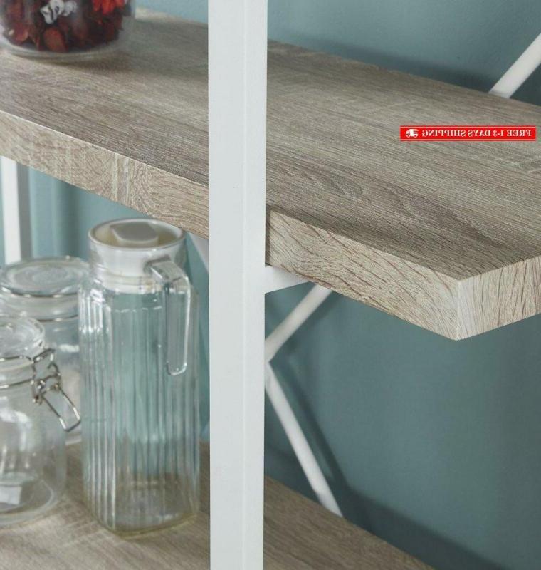 Homissue 5-Shelf Modern Bookshelf, Light And
