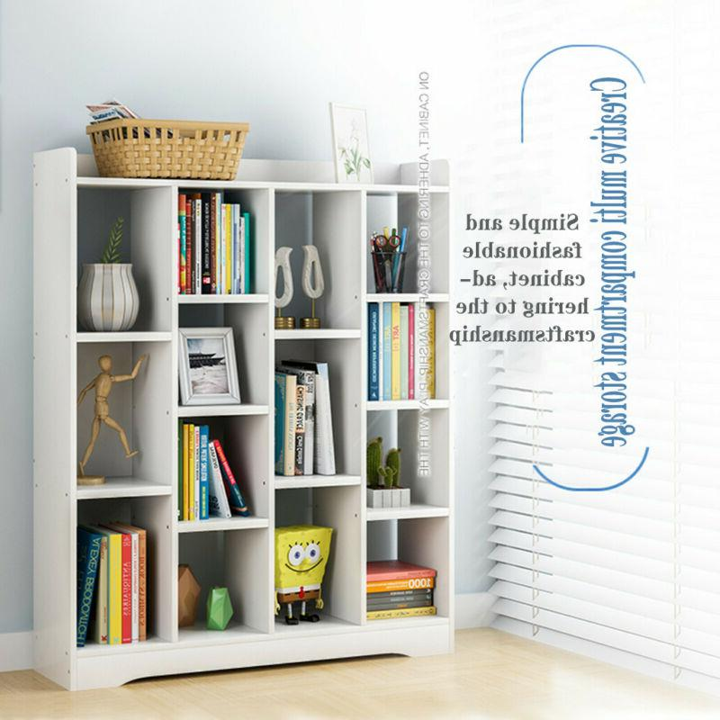 Adjustable Wood Storage Shelving Book Bookshelf Furniture