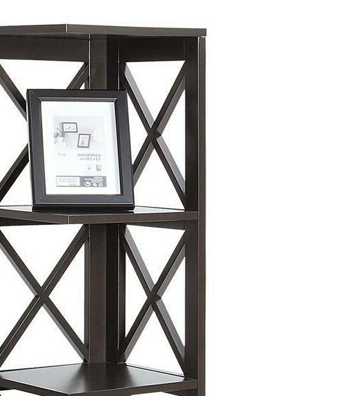 5 Display Shelves Storage Organizer Wood