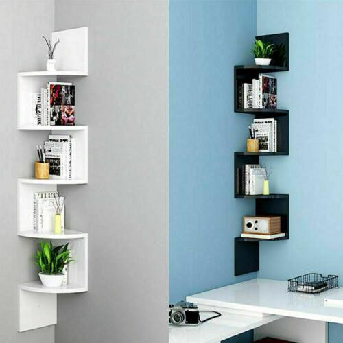 5 Tier Bookshelf Storage Zigzag Design