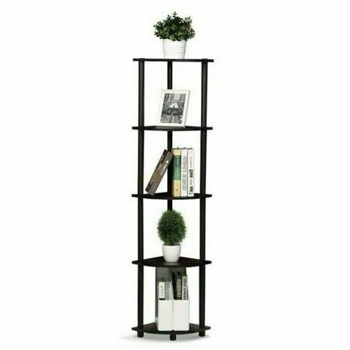 5 tier corner shelf wood display storage