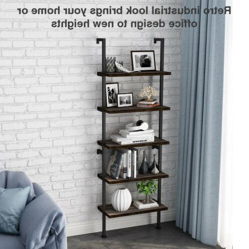 5-Tier Bookcase Bookshelf Shelf Ladder Display