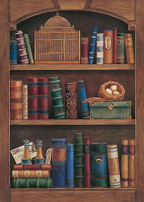 5x7ft Bookshelf Bookcase Vinyl Photo Background LB