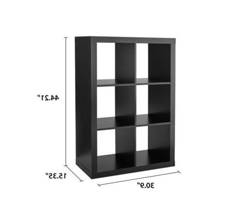 6 cube dark brown storage organizer home