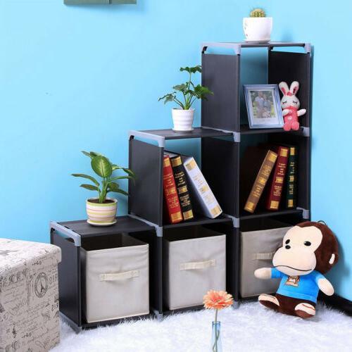 3 Storage Closet 6 Cabinet Clothes Modular Bookcase