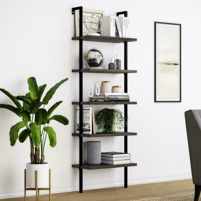 65501 theo wood ladder bookshelf