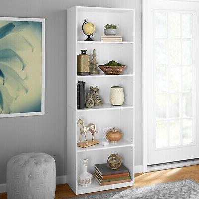 71 Closed Adjustable Wood Bookshelf Shelves