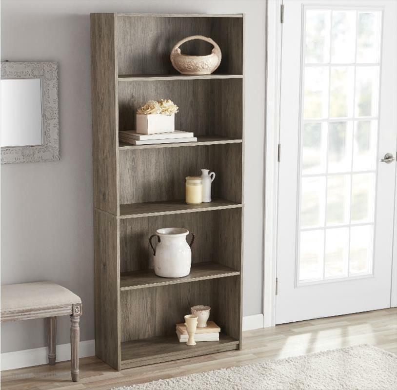 "71"" 5-Shelf Storage Shelving Book Bookshelf Furniture"