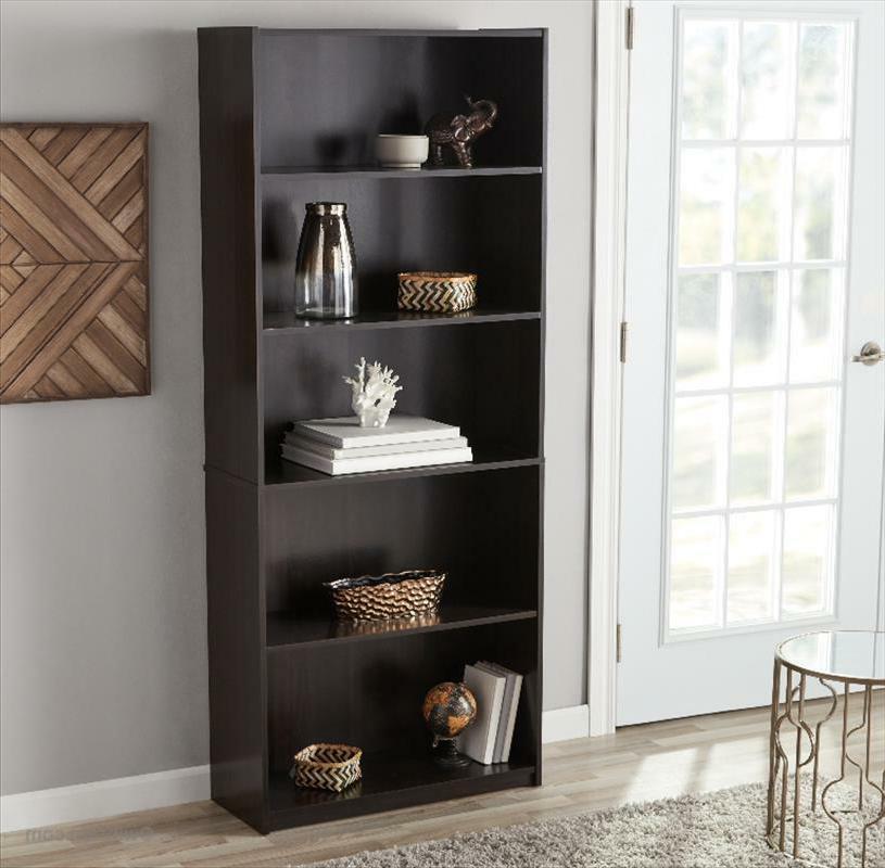 "71"" Adjustable 5-Shelf Bookcase Storage Shelving Bookshelf"