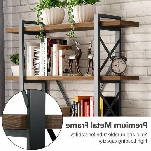 5-Shelf Bookcase, Wood Metal 72''H