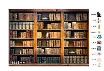 7x5ft Bookcase Backdrop Photo