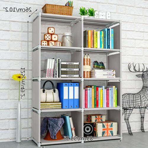 8 Bookshelf Rack Bookcase Shelving Stand Storage Display Shelves~USA