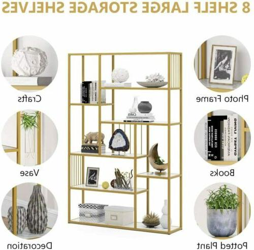 Tribesigns 8 Etagere Faux Marble,Modern Display