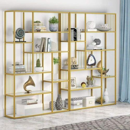 Tribesigns Shelves Etagere Bookcase Marble,Modern