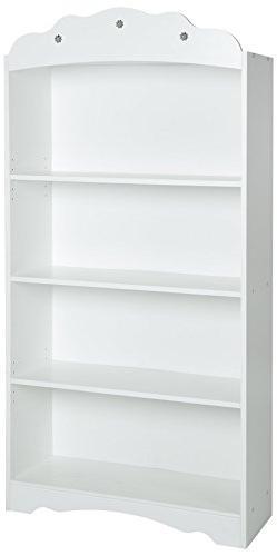 South Shore Tiara Kids 4-Shelf Bookcase - Adjustable Shelves