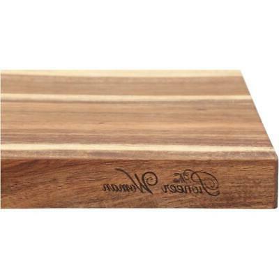 acacia wood cutting board kitchen butcher slice
