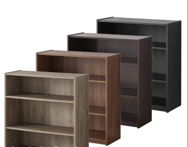 adjustable 3 shelf wood bookcase storage book