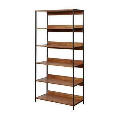allan contemporary 6 layer bookshelf in natural