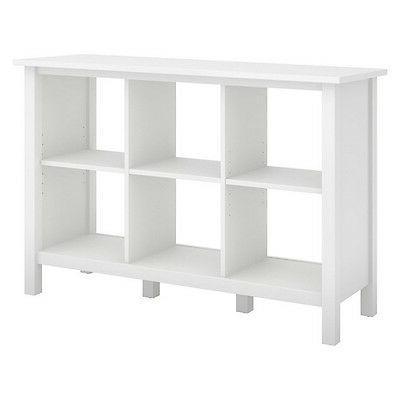 Bush Furniture BDB145WH-03 Broadview 6 Cube Storage Bookcase