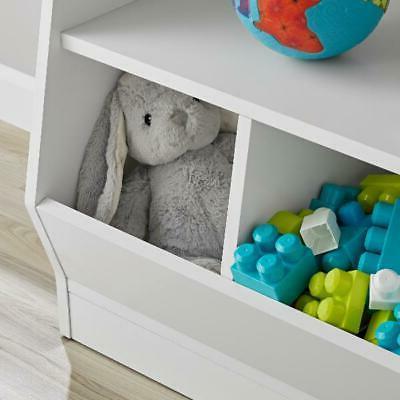 Bin Storage Case Bedroom Living White Game
