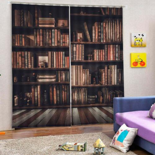 Bookcase Curtains Drapes for Living Room Kids Room 2 Panels