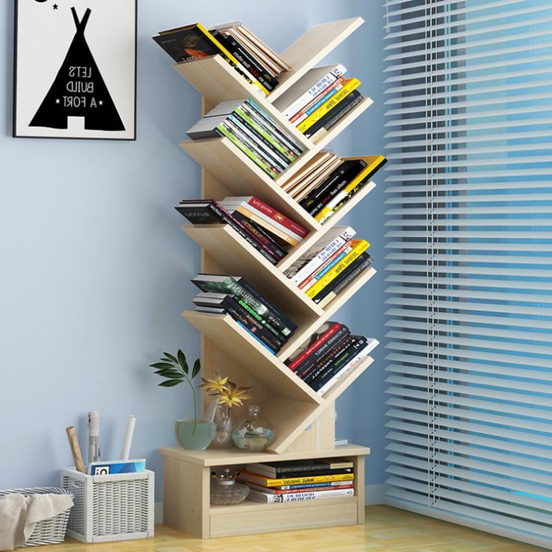 Wooden 10 Tier Bookcase Bookshelf Solid Wood Display Open St