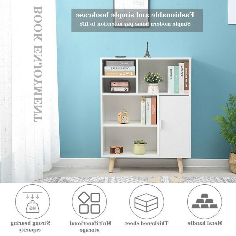 Wood 3-Tier Shelves Display Shelf White
