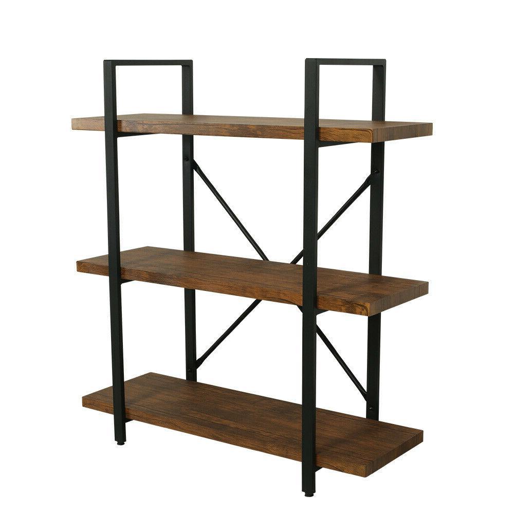 3 Bookcases Shelves Rustic Shelving Unit Vintage