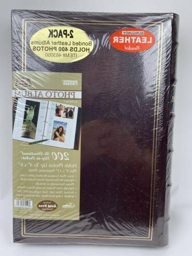 burgundy leather bonded photo album 2 pack