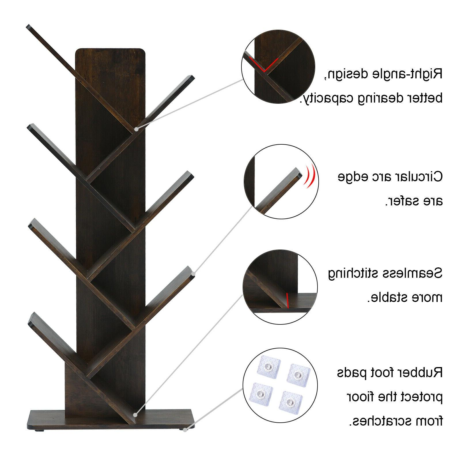 C&AHOME 7-Tier Tree Rack Bookshelf
