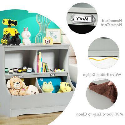 Children's Multi-Functional Bookcase Cabinet
