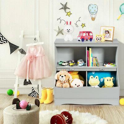 Children's Storage Kids Floor Cabinet Grey