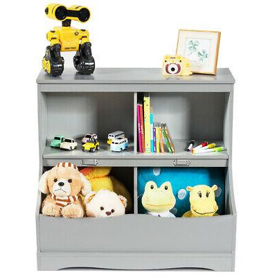 Children's Multi-Functional Storage Cabinet Grey