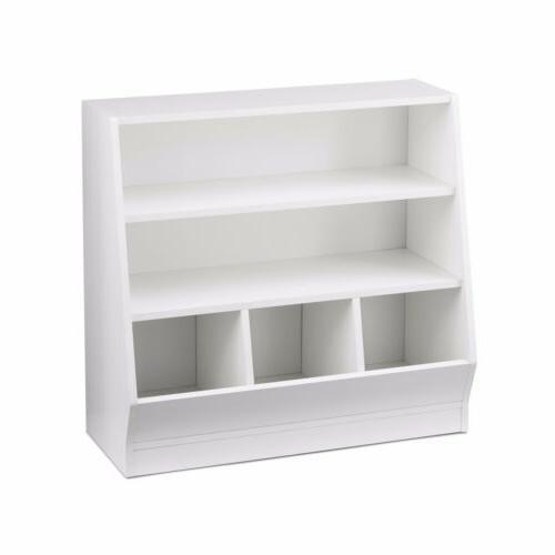 Children's Bin Storage and Book Case