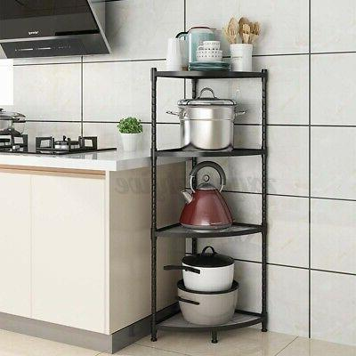 Corner Shelf Shelves Rack Storage Tier Bookshelf