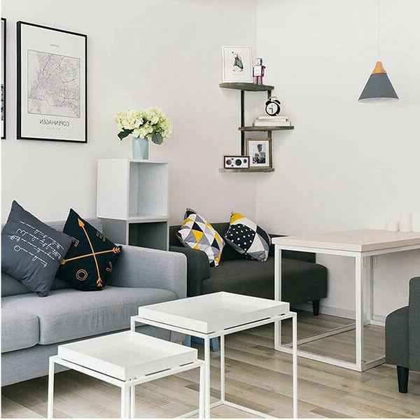 Corner Shelf of Tier Wood Shelves