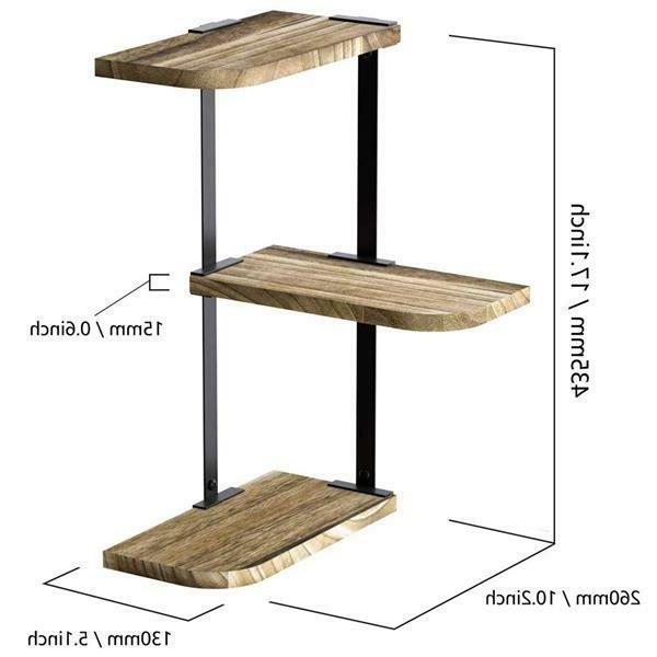 Corner Wall of Wood Shelves Shelves