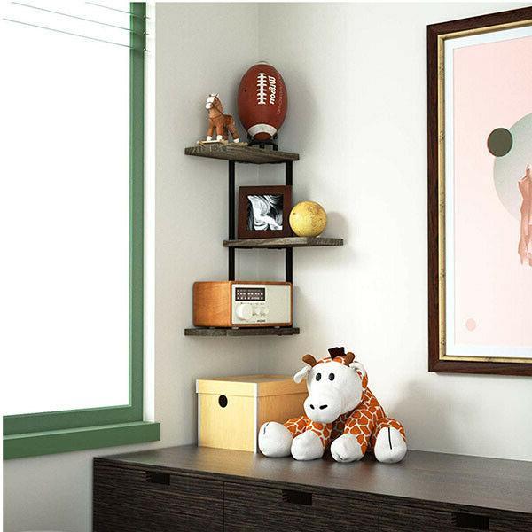 Corner Shelf Mount Wood Shelves Shelves