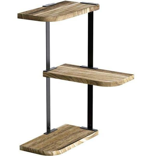 corner shelf wall mount of 3 tier