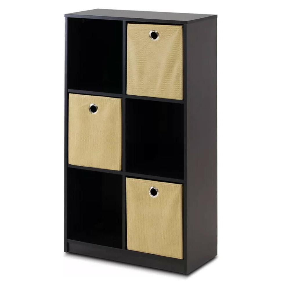 CUBE STORAGE Bookshelf with Storage Bins