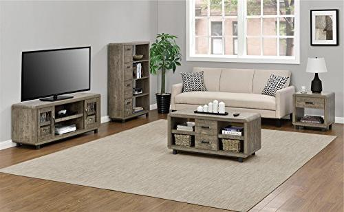 Ameriwood Home Bookcase with Bins, Brown