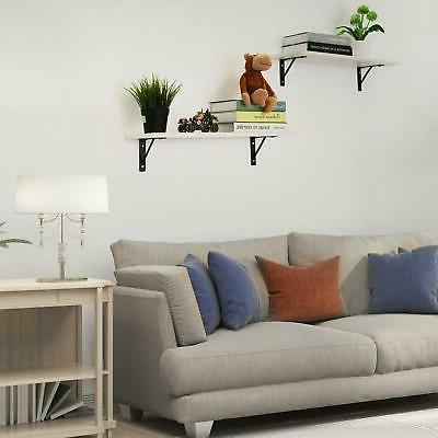 Floating Shelves Wall 2 Display With Bracket For Picture US