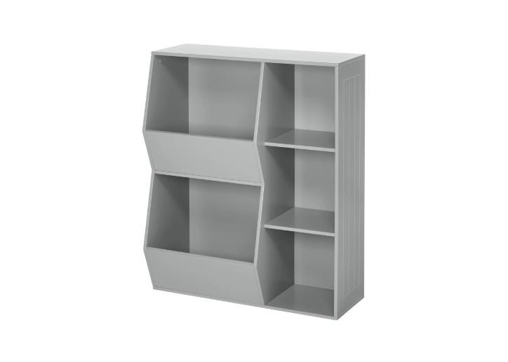 floor cabinet 3 shelves and bin bookcase