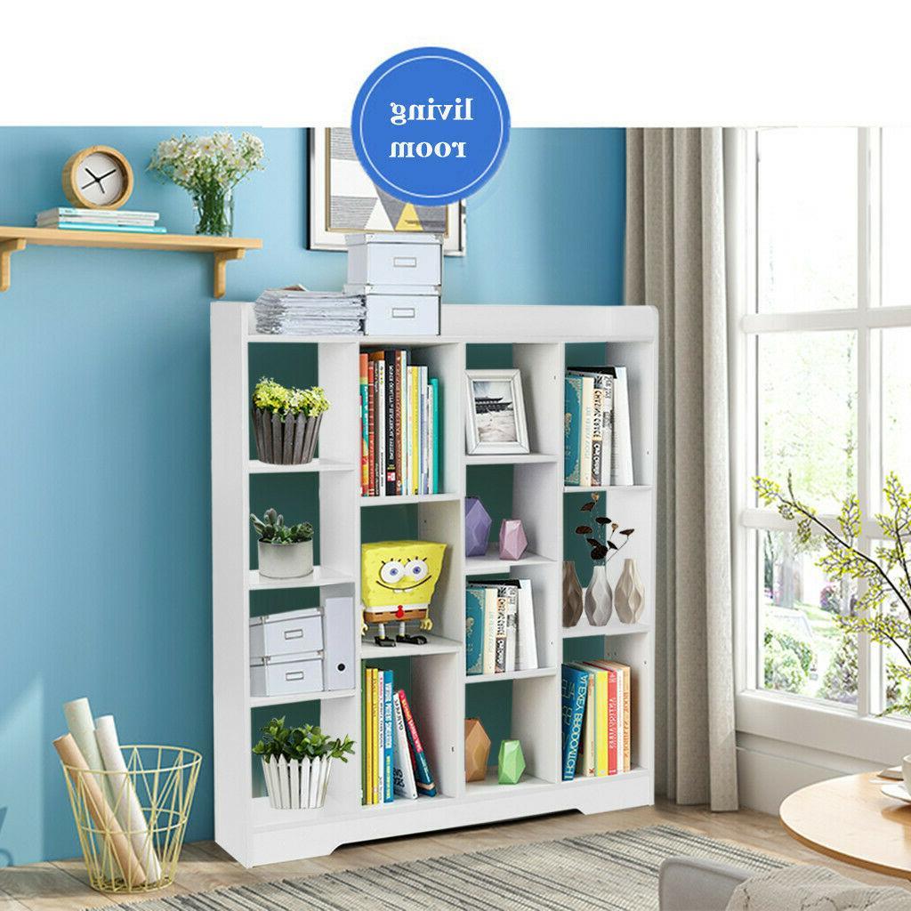 Floor Wood Storage Case Bookshelf