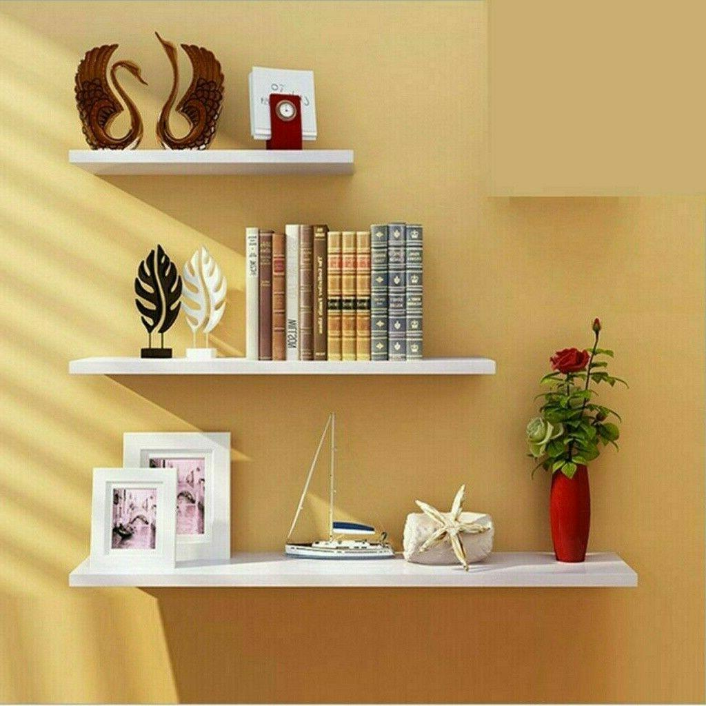 home decor floating wall shelves 3pc ledge