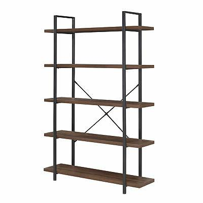 Industrial Bookcase Open Etagere Wood 4