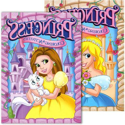 jumbo princess coloring and activity book case