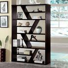 Kamloo Contemporary Style Display Zigzag Shelf Bookshelf Boo